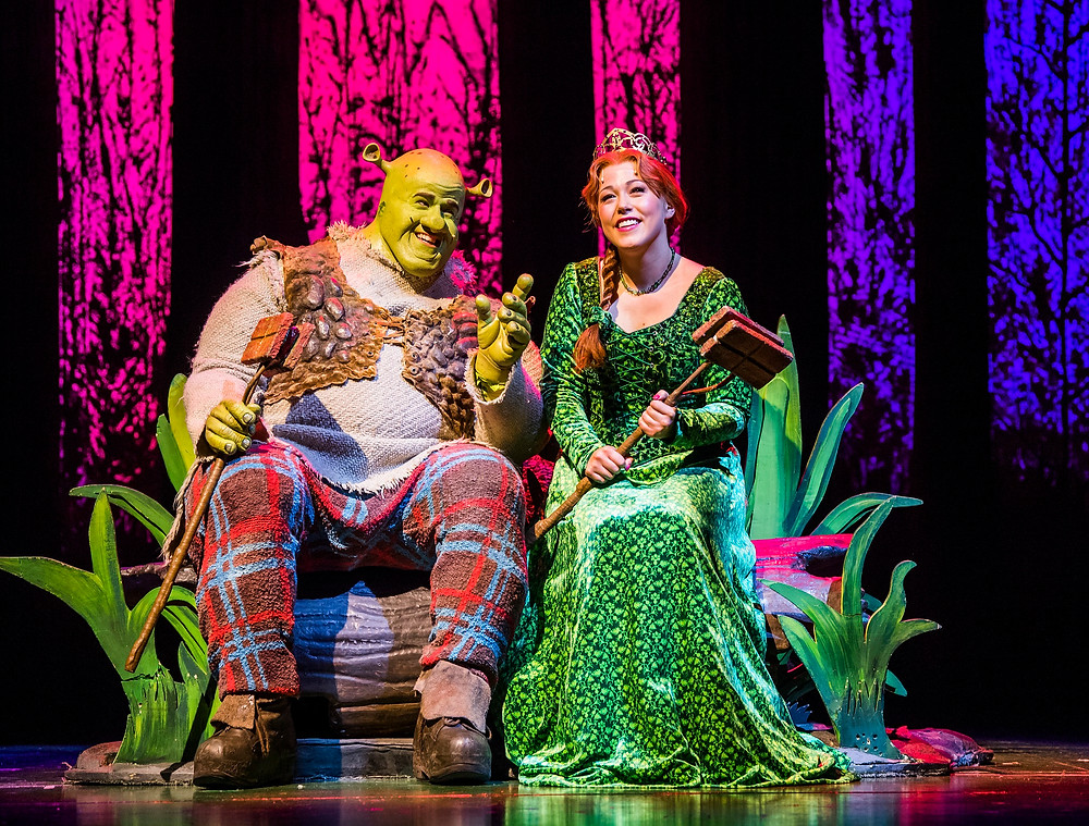 Steffan Harri and Amelia Lily in Shrek the Musical UK and Ireland tour 2018. Credit Tristram Kenton (2)