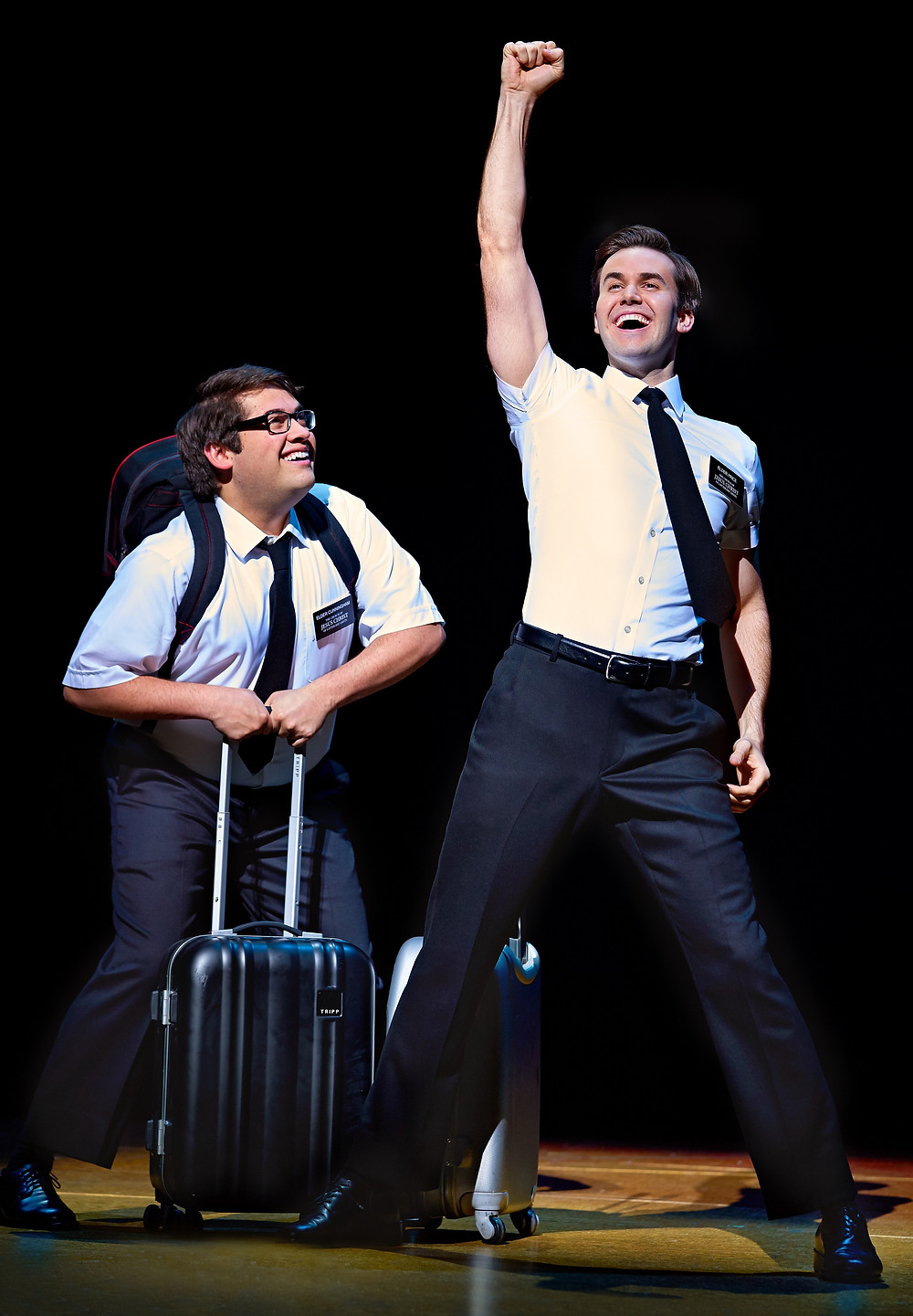 3 Conner Peirson and Kevin Clay in The Book of Mormon Credit Paul Coltas