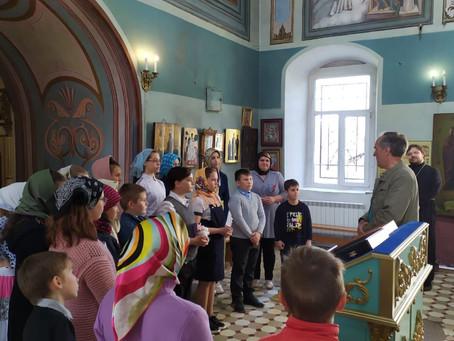 Посещение школьниками Порецкой средней школы Богородицерождественского храма с. Поречье.