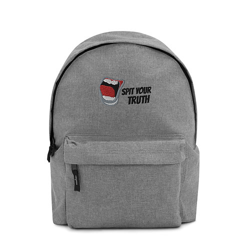 Spit Your Truth Embroidered Backpack