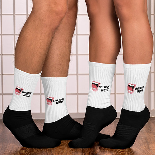 Spit Your Truth Logo Socks