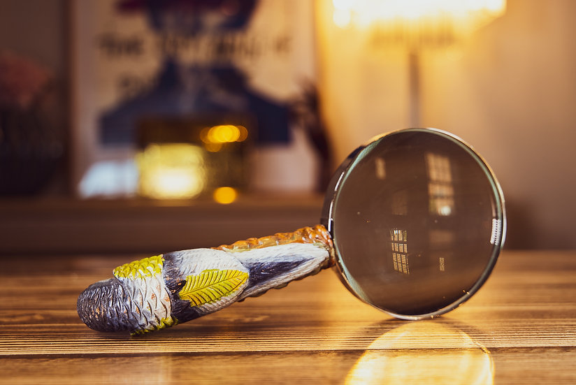 Carved Parrot Magnifying Glass 1910 SOLD