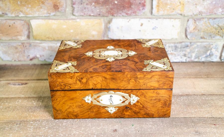 Burr Walnut Table Box c.1880 SOLD
