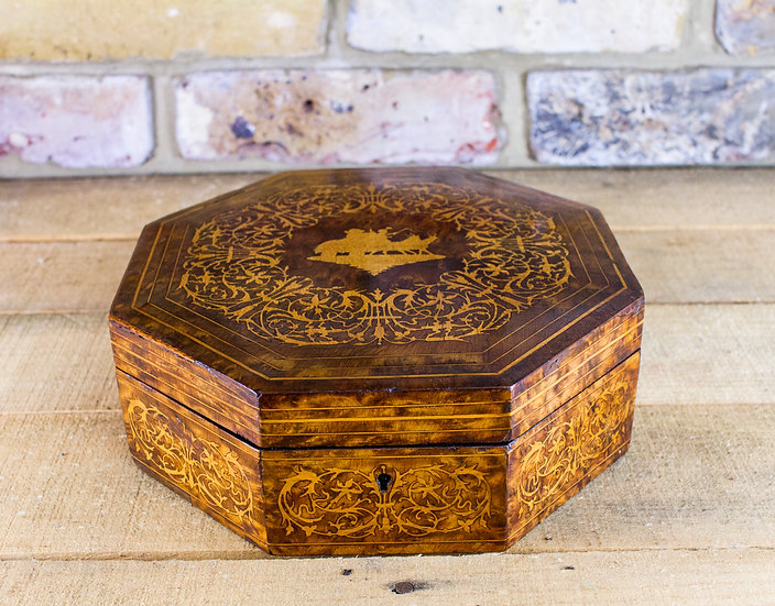 8 Sided Amboyna Table box SOLD