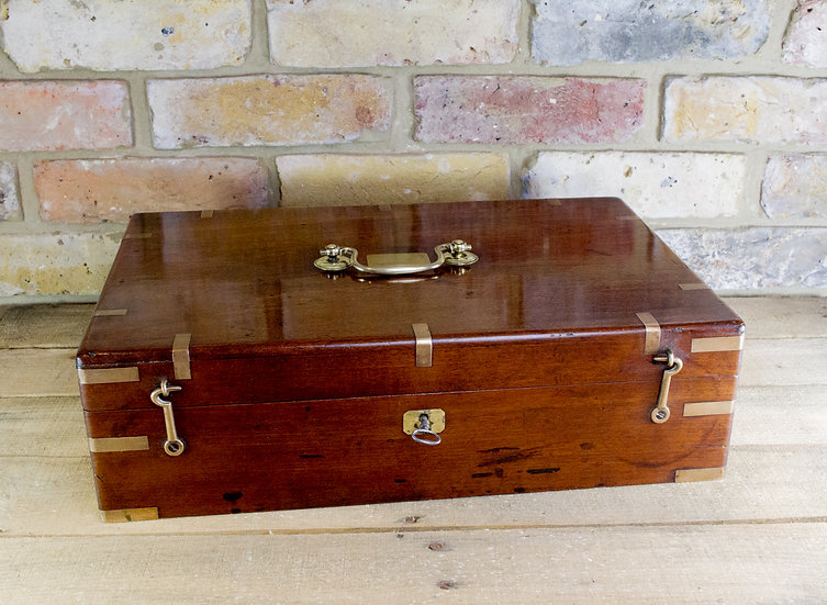 Large Mahogany Document Box c.1800 SOLD