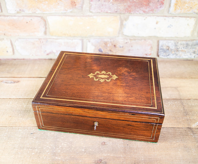 French Rosewood Table Box c.1870 SOLD