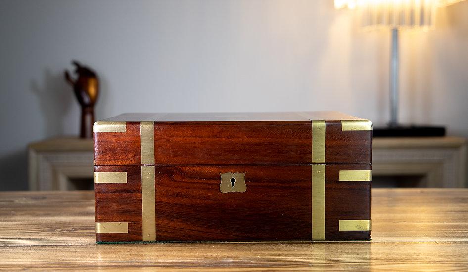 Georgian Brass Bound Table Box 1820 SOLD