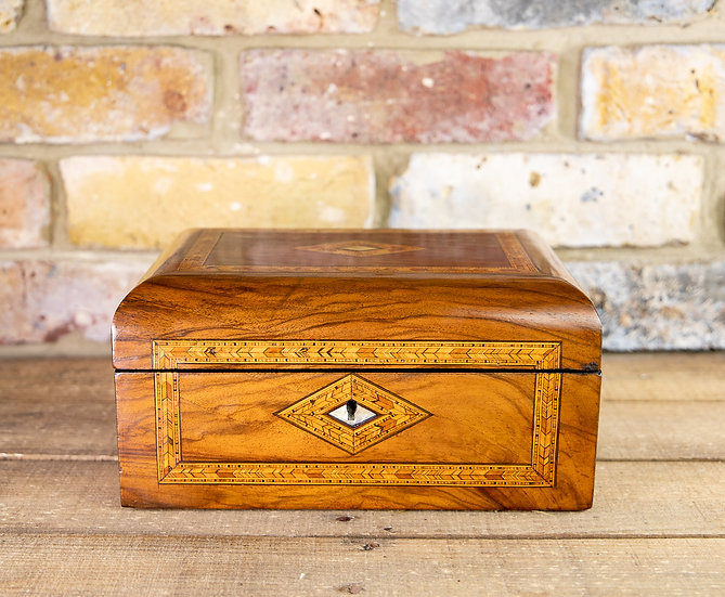 Figured Walnut Tunbridge Table Box 1880 SOLD