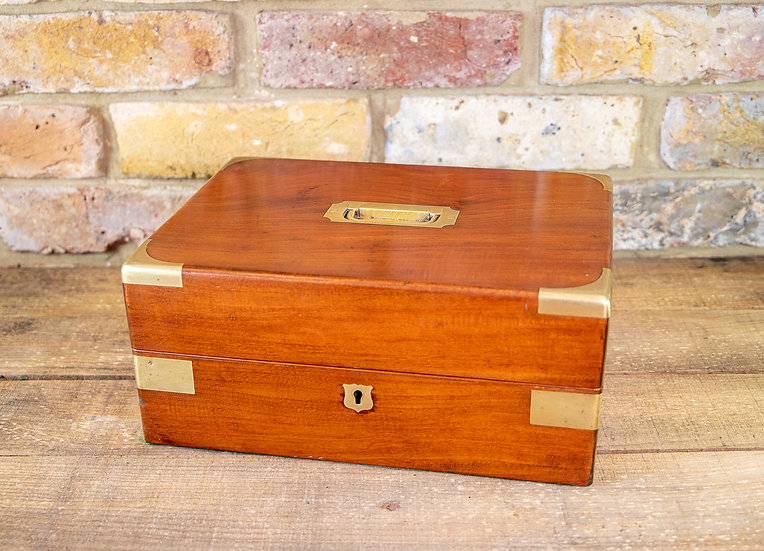 Solid Mahogany Gent's Box Georgian 1820 SOLD