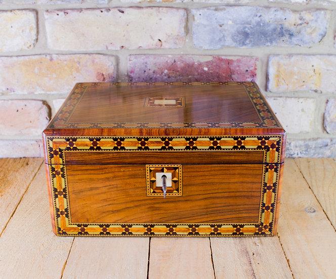Figured Walnut Table Box c.1880 SOLD