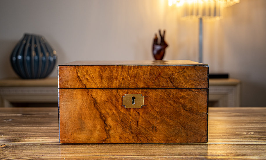 Figured Walnut Table Box 1880 SOLD