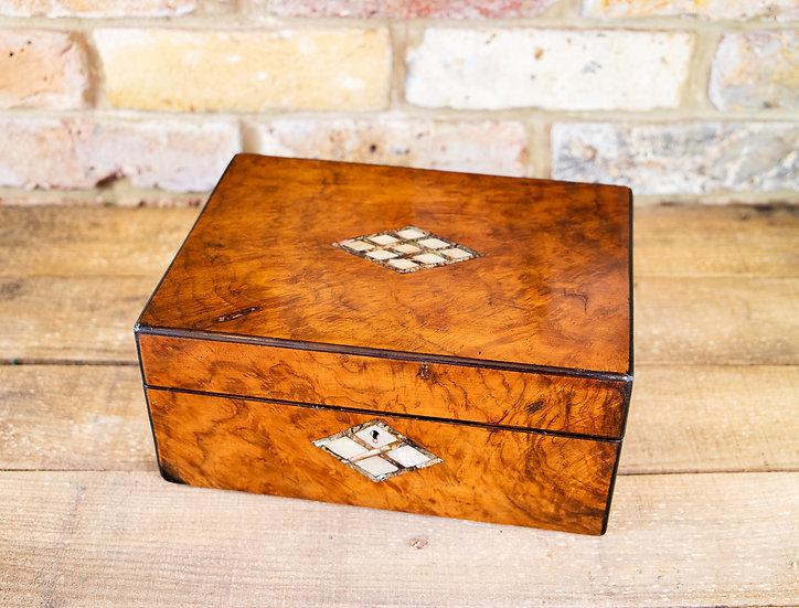 Burr Walnut Ladies Box 1880 SOLD