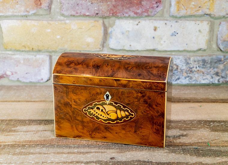 Burr Yew Tea Caddy c.1800 SOLD