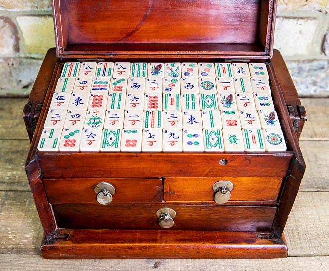 Chinese Mahjong Games Box c.1900 SOLD