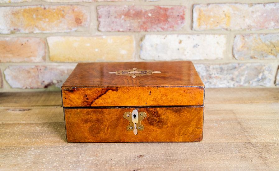 Figured Walnut Table Box 1870