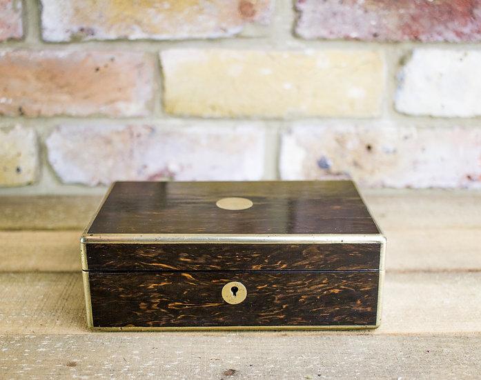 Brass Bound Coromandel Desk Box c.1830 SOLD