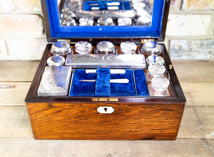 Fully Kitted Rosewood Vanity Box c.1870 SOLD