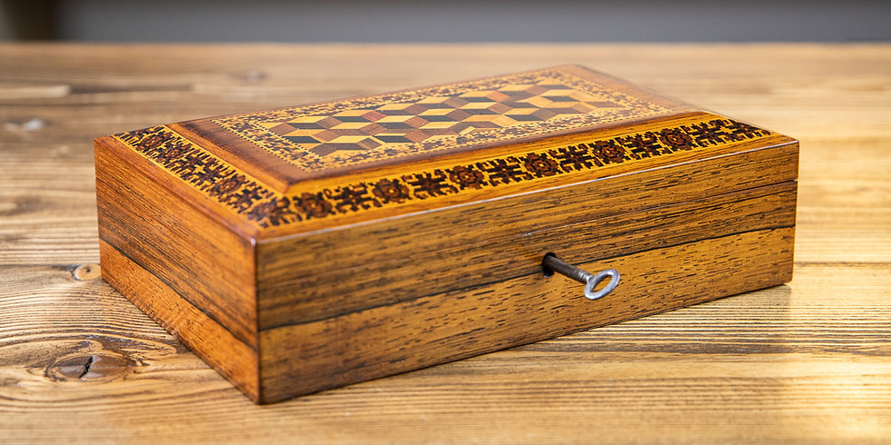 Tunbridge Ware Table Box 1880