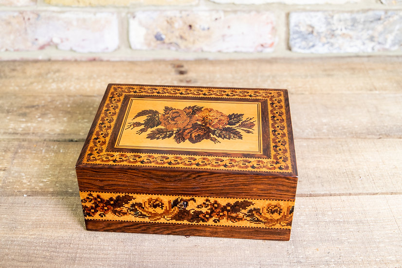Rare Makers Label Tunbridge Ware Box c.1865 SOLD