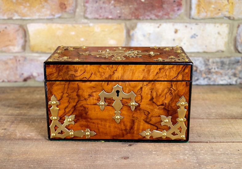 Burr Walnut Tea Caddy 1860 SOLD