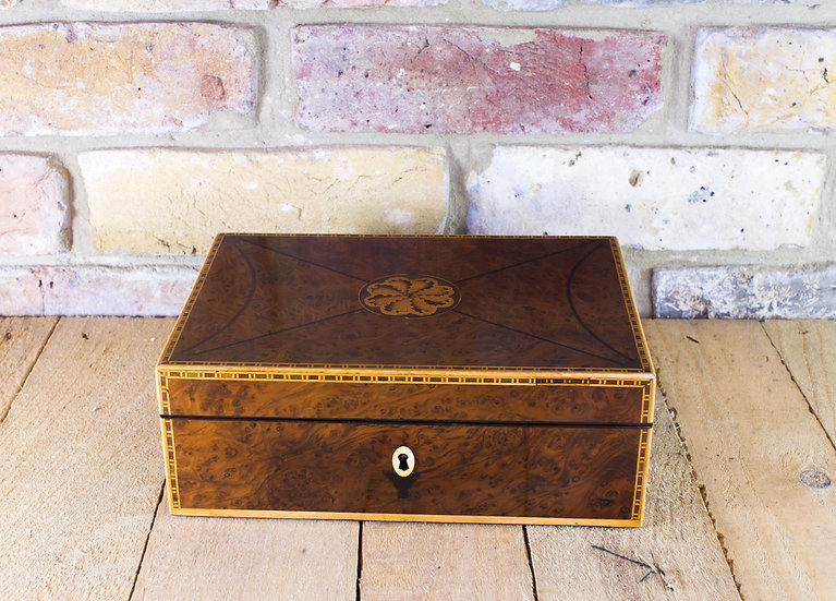 Burr Yew Jewellery Box c.1820 SOLD