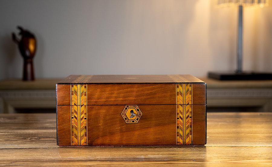 Walnut Tunbridge Ware Table Box 1880 SOLD