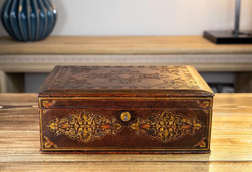 Decorative Leather Box 1870