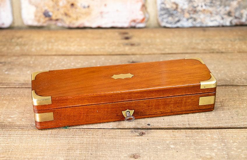 Mahogany Brass Bound Desk Box 1890 SOLD