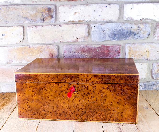 Large Amboyna Table box c.1880 SOLD