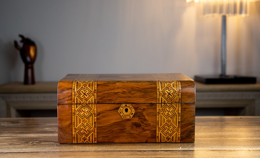 Domed Top Tunbridge Ware Table Box 1880 SOLD