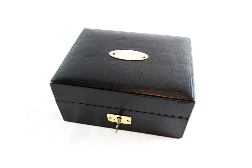 Leather Jewellery Box c.1920 SOLD