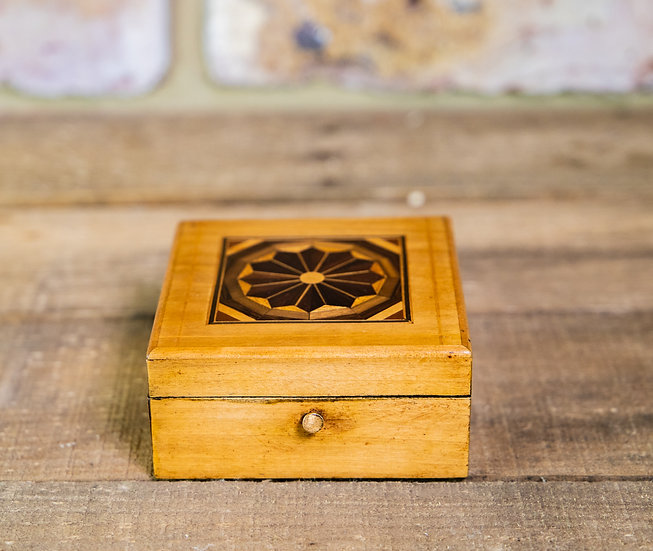 Small Satinwood Clock Box c.1920 SOLD