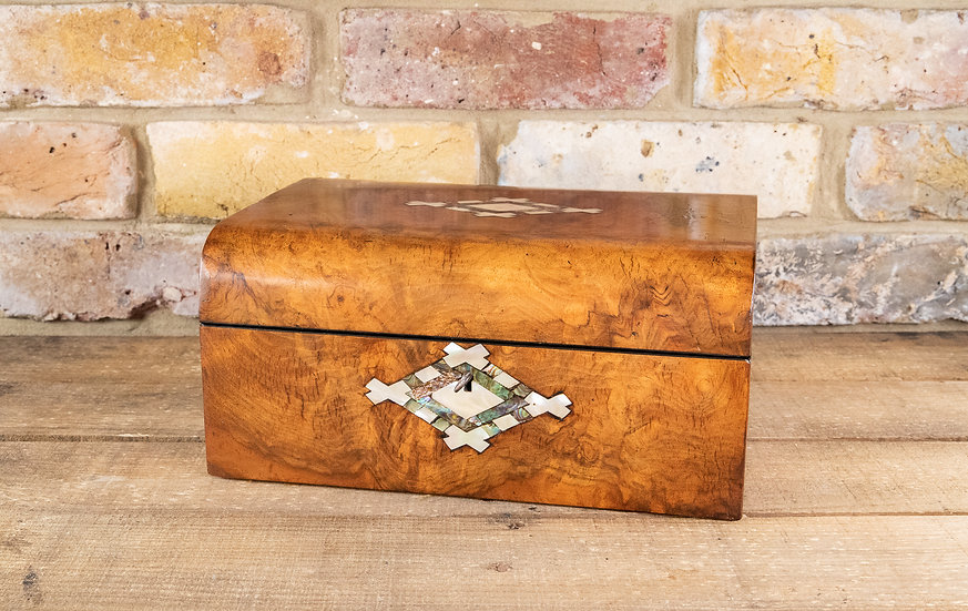 Burr Walnut Table Box 1870 SOLD