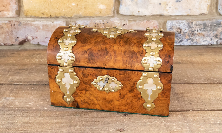 Dome Top Jewellery Casket 1870