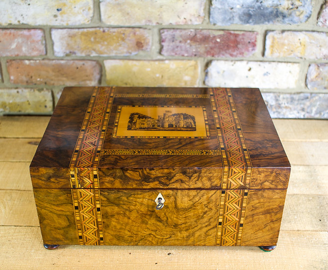 Tunbridge Ware Sewing Box c. SOLD