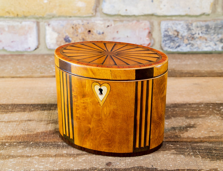 Rare Oval Single Tea Caddy c.1790 SOLD