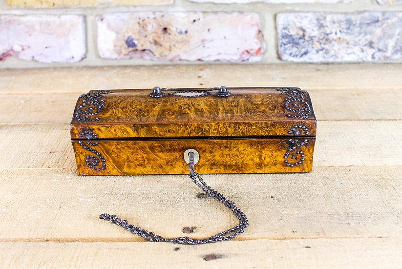 Amboyna Ladies box c.1850 SOLD