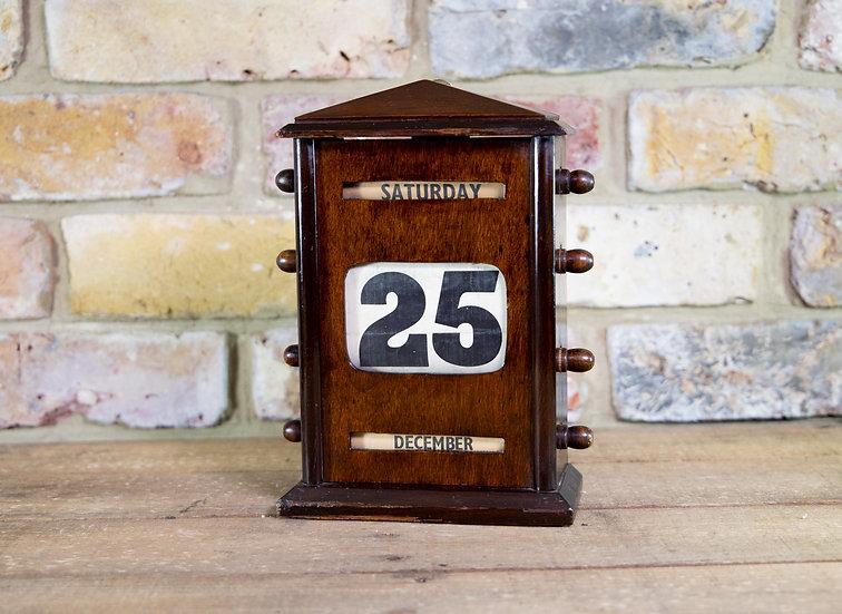 Oak Calendar 1900 SOLD