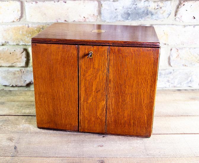 Oak Cigar Cabinet 1880-90 SOLD