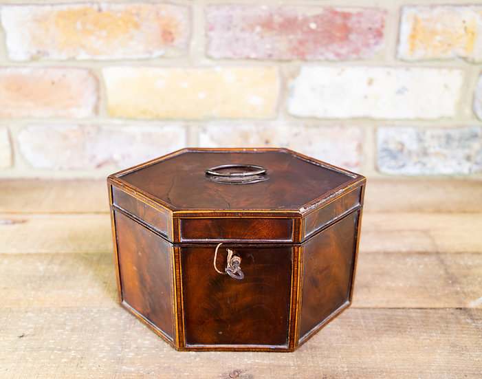 Rare Hexagon Georgian Tea Caddy c.1800.RESTORED