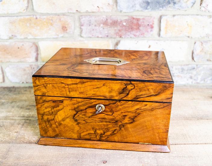 Figured Walnut Ladies Box c.1890 SOLD