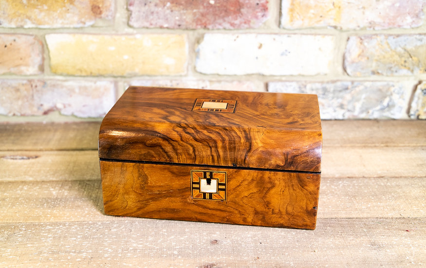 Figured Walnut Sewing Box c.1880 SOLD