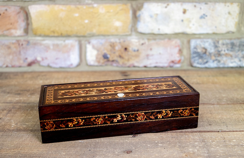 Ladies Tunbridge Ware Box 1870 SOLD