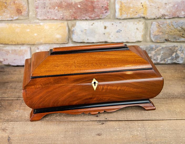 Fantastic Shaped Tea Caddy 1870 SOLD