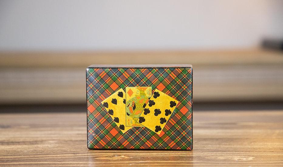 Collectors Tartan ware Card Box 1900 SOLD
