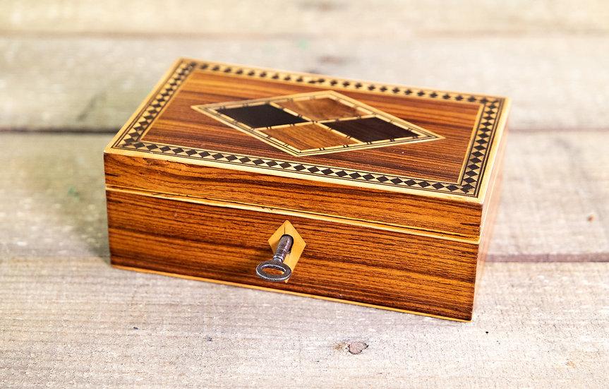 Kingwood Inlaid Table Box c.1880 SOLD