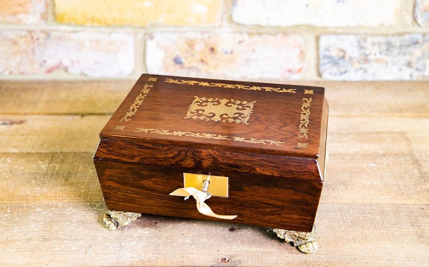 Regency Brass Inlay Table Box 1820 SOLD