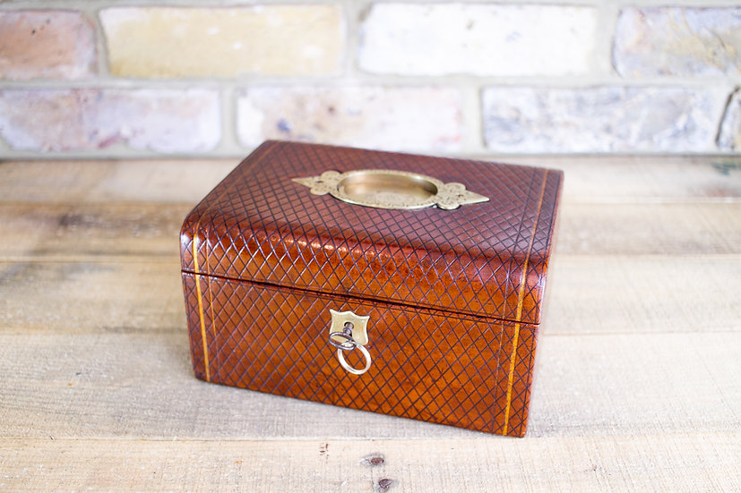 High Quality Leather Jewellery Box c.1880 SOLD