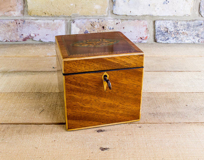 Single Mahogany Tea Caddy c.1800 SOLD