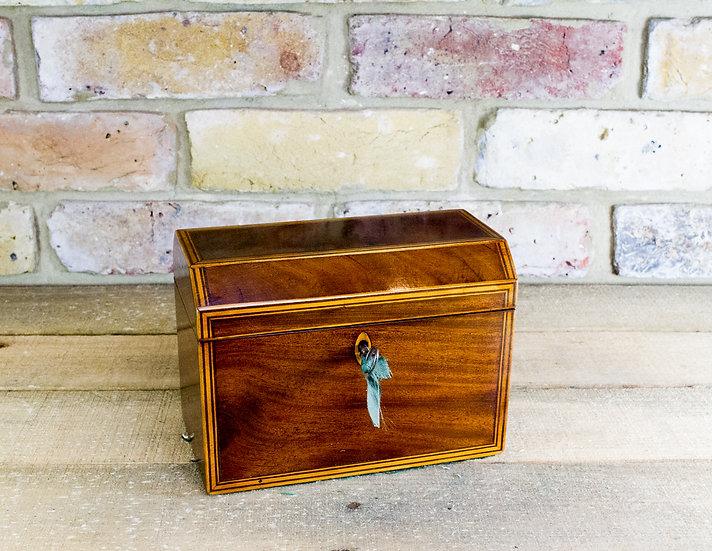 Mahogany and boxwood Twin Tea Caddy c.1820 SOLD